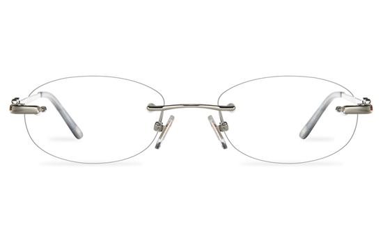 Vista First 8961 Stainless steel/ZYL Womens Rimless Optical Glasses