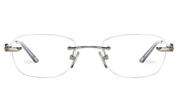 Vista First 8959 Stainless steel/ZYL Womens Rimless Optical Glasses for Fashion,Classic,Nose Pads Bifocals
