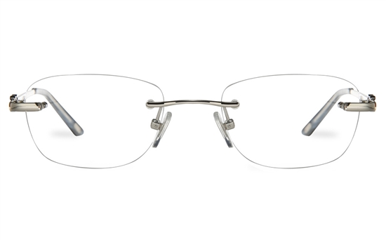 Vista First 8959 Stainless steel/ZYL Womens Rimless Optical Glasses