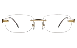 Vista First 8956 Stainless steel/ZYL Mens Rimless Optical Glasses for Fashion,Classic,Nose Pads Bifocals