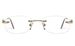 Vista First 8958 Stainless steel/ZYL Womens Rimless Optical Glasses for Fashion,Classic,Nose Pads Bifocals
