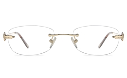 Vista First 8960 Stainless steel/ZYL Womens Rimless Optical Glasses for Fashion,Classic,Nose Pads Bifocals