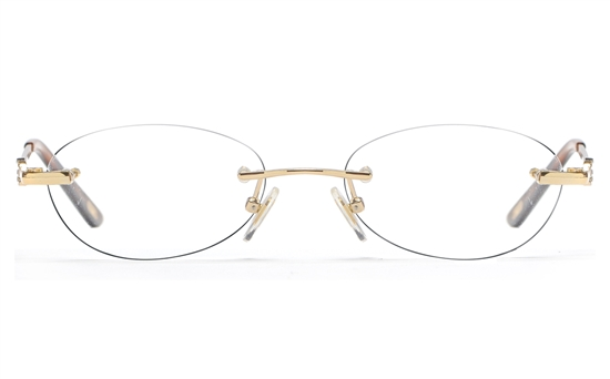 Vista First 8941 Stainless steel/ZYL Womens Rimless Optical Glasses
