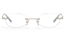 Vista First 8941 Stainless steel/ZYL Womens Rimless Optical Glasses for Fashion,Classic,Nose Pads Bifocals