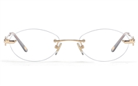 Vista First 8948 Stainless steel/ZYL Womens Rimless Optical Glasses
