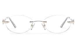 Vista First 8948 Stainless steel/ZYL Womens Rimless Optical Glasses for Fashion,Classic,Nose Pads Bifocals