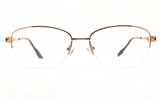 Poesia 6672 Stainless Steel Womens Semi-rimless Optical Glasses