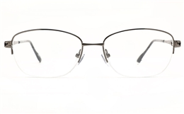 Poesia 6672 Stainless Steel Womens Semi-rimless Optical Glasses for Fashion,Classic,Nose Pads Bifocals