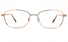 Poesia 6671 Stainless Steel Womens Full Rim Optical Glasses for Fashion,Classic,Nose Pads Bifocals