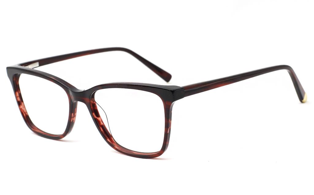 Prescription Eyeglass Frames for Men & Women(Wine/Strp)