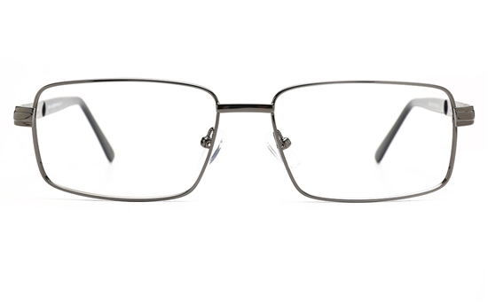 52bcdfa05988 Poesia 6675 Stainless Steel Mens Full Rim Optical Glasses(S.GUN)
