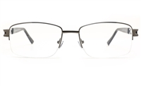 Poesia 6069 Stainless Steel Mens Semi-rimless Optical Glasses