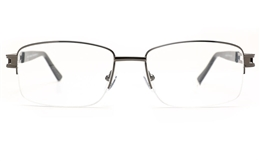 Poesia 6069 Stainless Steel Mens Semi-rimless Optical Glasses for Fashion,Classic,Nose Pads Bifocals