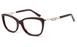Womens Oval Glasses 0888 for Fashion,Classic,Party Bifocals