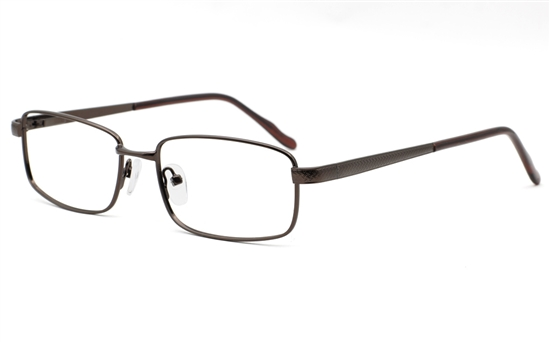 Mens Stainless Rectangle Glasses 6680