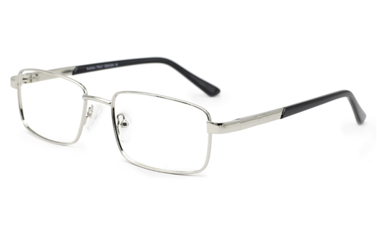 1a9f30a1709d Men Rectangle eyeglasses 6668(Silver)