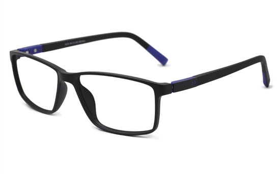 70c4f67d3e25 Mens Rectangle Eyeglasses 0310(Black/Blue)