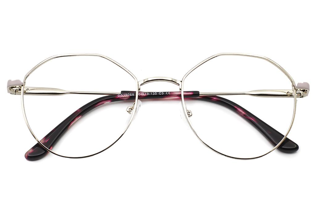 Half Hexagonal Oval glasses