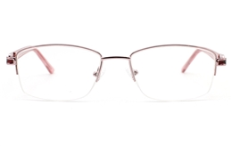 Semi Rimmless Glasses Womens for Fashion,Classic,Party,Nose Pads Bifocals