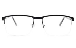 Semi Rimless Square Eyeglasses