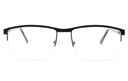 Semi Rimless Square Eyeglasses for Fashion,Classic,Nose Pads Bifocals