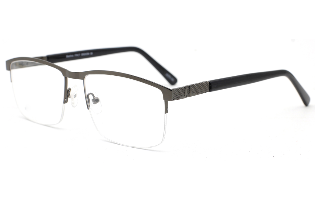 Semi Rimless Square Eyeglasses