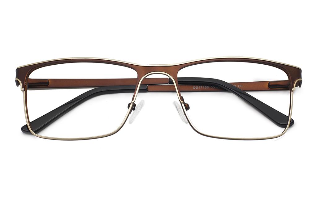 Men Two Tone Eyeglasses Frame