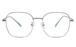 Square Titanium Metal Eyeglasses
