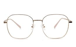 Square Titanium Metal Eyeglasses for Fashion,Classic,Party Bifocals