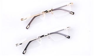 Vista First 8901 18K Gold Stainless steel/ZYL Man Rimless Optical Glasses