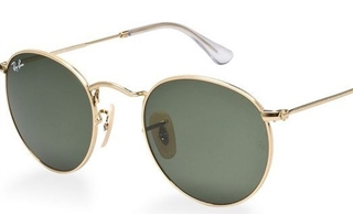 The Ray Ban Round Metal RB3447 001 In Gold/Crystal Green