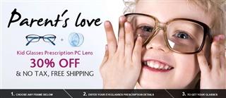Kid Glasses Prescription PC Lens