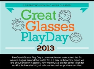 Celebrate the Great Glasses Play Day on August 3