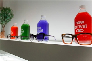 6 Bespectacled Bottle Displays