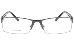 Vista First 1613 Stainless Steel Semi-rimless Mens Optical Glasses for Fashion,Nose Pads Bifocals