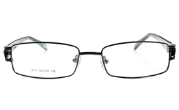 Vista First 8111 Stainless Steel Full Rim Womens Optical Glasses for Party,Nose Pads Bifocals