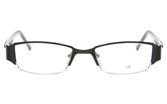 E1188 Stainless Steel/ZYL Mens Semi-rimless Square Optical Glasses