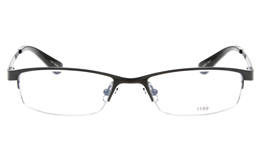 E1189 Stainless Steel Mens Womens Semi-rimless Square Optical Glasses for Fashion,Party,Nose Pads