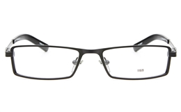 E1169 Stainless Steel Mens Womens Full Rim Square Optical Glasses for Fashion,Classic,Party,Nose Pads