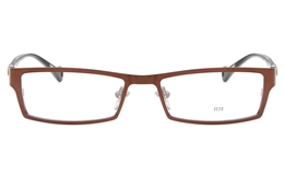 E1174 Stainless Steel/ZYL Mens Womens Full Rim Square Optical Glasses for Fashion,Classic,Party,Nose Pads