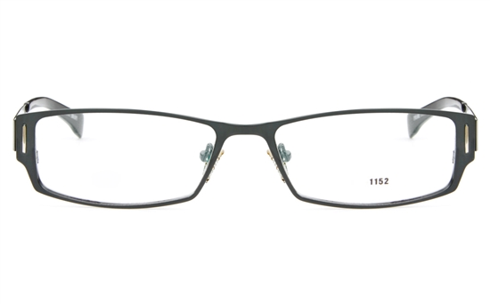E1152 Stainless Steel Mens Full Rim Square Optical Glasses