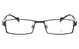 E1167 Stainless Steel Mens Womens Full Rim Square Optical Glasses for Fashion,Classic,Party,Nose Pads