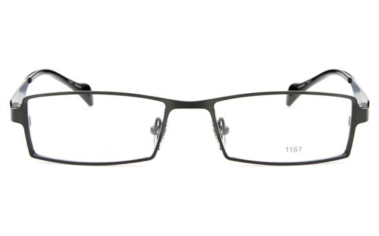 E1167 Stainless Steel Mens&Womens Full Rim Square Optical Glasses