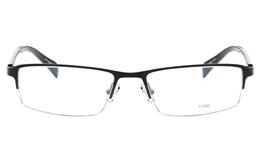 E1190 Stainless Steel/ZYL Mens Semi-rimless Square Optical Glasses for Fashion,Party,Nose Pads Bifocals
