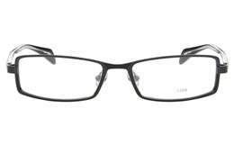 E1195 Stainless Steel/ZYL Mens&Womens Full Rim Square Optical Glasses