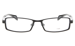E1195 Stainless Steel/ZYL Mens Womens Full Rim Square Optical Glasses for Fashion,Party,Nose Pads Bifocals