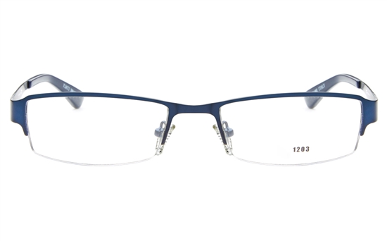 E1203 Stainless Steel Mens&Womens Semi-rimless Square Optical Glasses