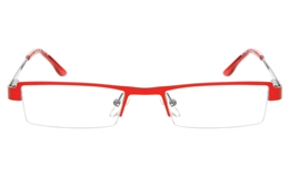 10052 Stainless Steel Womens Semi-rimless Square Optical Glasses for Fashion,Classic,Nose Pads