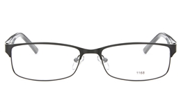 E1168 Stainless Steel/ZYL Mens Womens Full Rim Square Optical Glasses for Fashion,Party,Nose Pads Bifocals