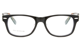 F011 Acetate(ZYL) Mens Womens Full Rim Wayfarer Optical Glasses for Fashion,Classic,Party Bifocals